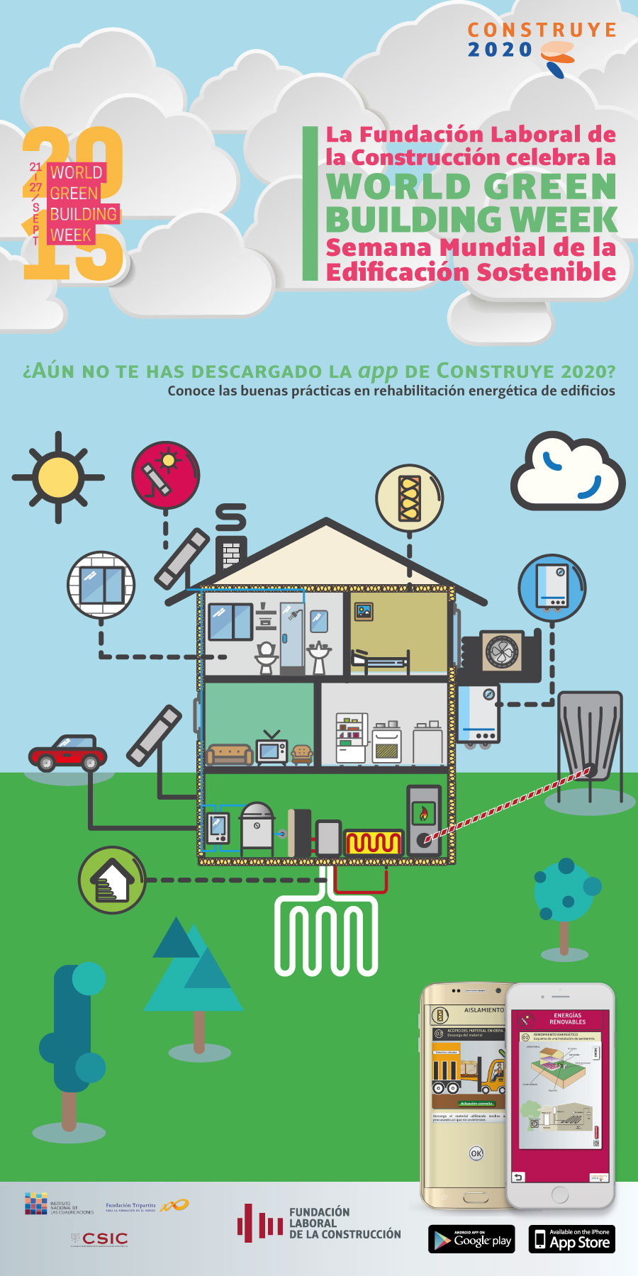 World Green Building Week, Semana Mundial de la Edificación Sostenible, app Construccion sostenible